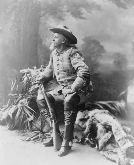 "William ""Buffalo Bill"" Cody poses for a portrait, 1903."