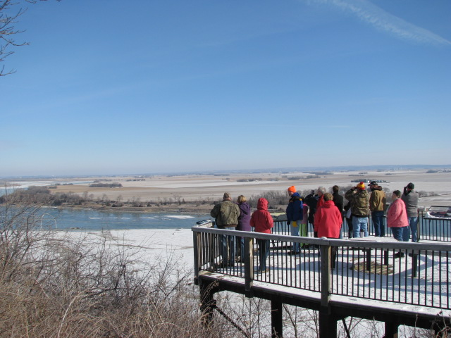 Great Backyard Bird Count led by Loess Hills Audubon Society volunteers at Ponca State Park, 2013.