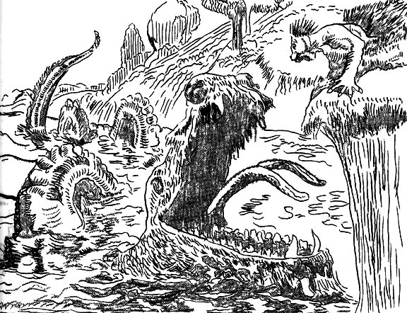 Walgren Lake Monster Depiction. Source: Nebraska State Historical Society.