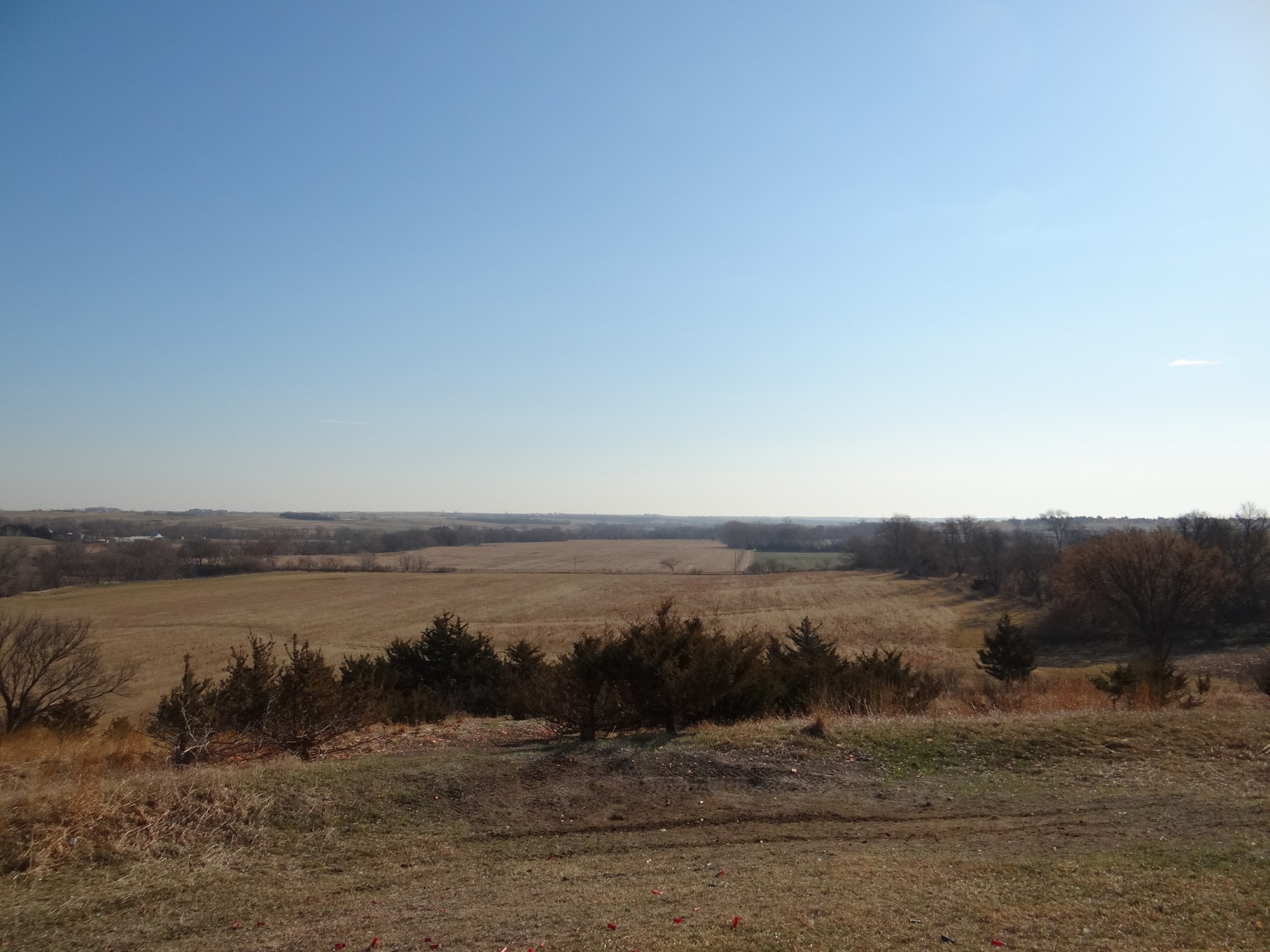 View of countryside from Oak Creek Sporting Club near Brainard, NE. Photo by Greg Wagner.