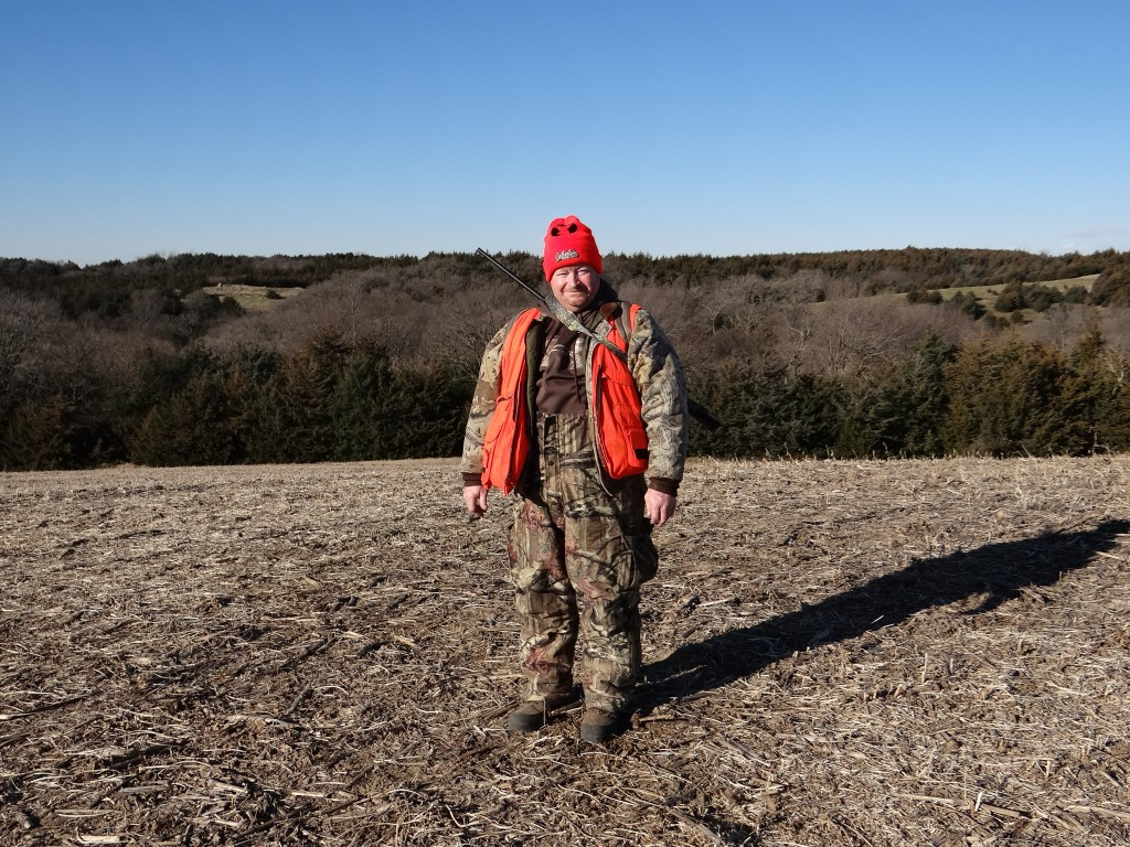 Greg Wagner's younger brother Steve Wagner is pictured on a relative's farm during a recent firearm deer hunting season in southeastern Nebraska. Photo by Greg Wagner/Nebraska game and Parks Commission.
