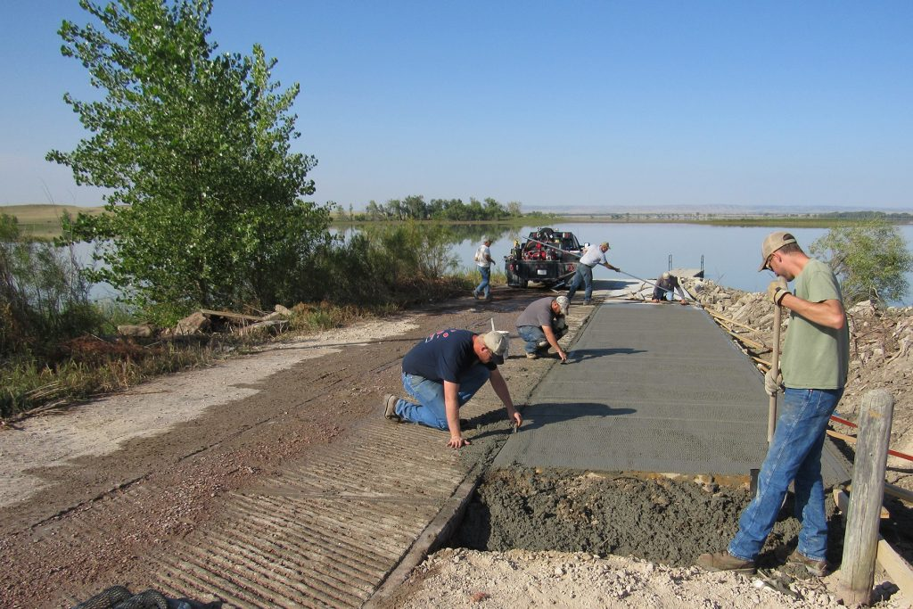 Boat ramp expansion